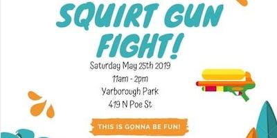 Summer Squirt Gun Fight!