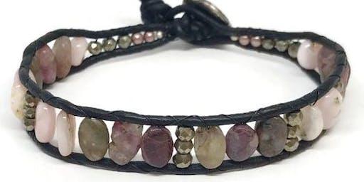 Gemstone and Leather Boho Bracelet