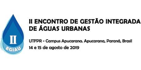 II Encontro de Gestão Integrada de Águas Urbanas ingressos