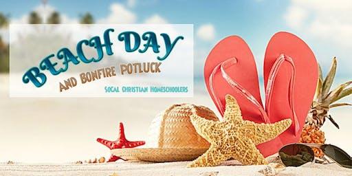 HOMESCHOOL Beach Day and Bonfire Potluck!!!