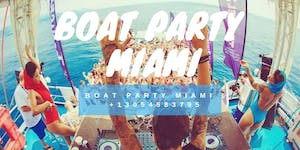 #Miami Party Boat + Open-bar + Jet-ski Memorial Day...