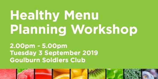 Munch & Move Healthy Menu Planning Workshop - Goulburn