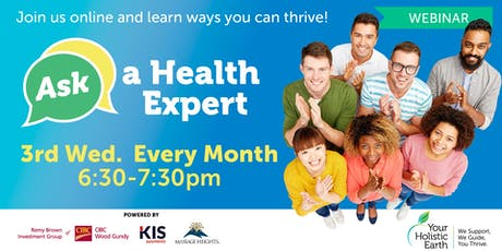Ask the Health Expert - Online Evening tickets
