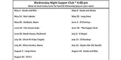 SR Adult Wednesday Night Supper Club