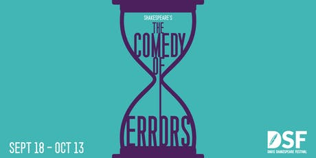The Comedy of Errors, 09/20 (OPENING) tickets