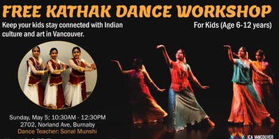 Free Kathak Dance Workshop For Kids (6-12 yrs)