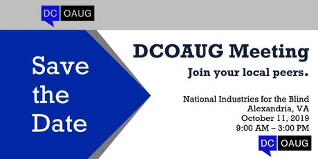 DCOAUG Meeting 2019 tickets