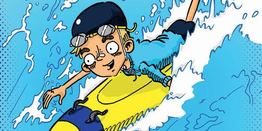 Meet the Author: Trent Maxwell with Maxi the Lifeguard
