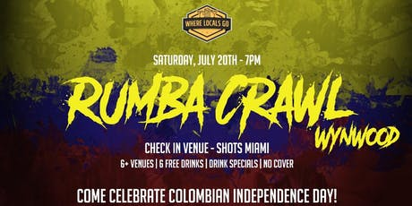 Rumba Bar Crawl Wynwood - Colombian Independence Day tickets