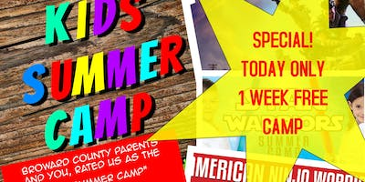 FREE Week of Summer Camp in Pembroke Pines(12hour SALE Only 10AM to 10PM)
