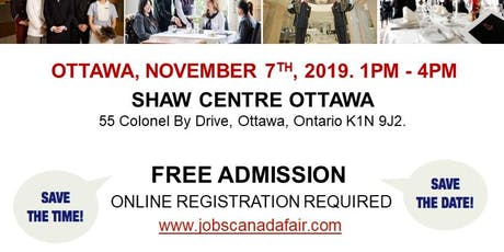 Ottawa Hospitality Job Fair - November 7th, 2019  tickets