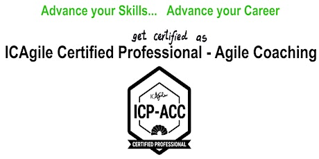 ICAgile Certified Professional - Agile Coaching (ICP ACC) Workshop - Atlanta GA tickets