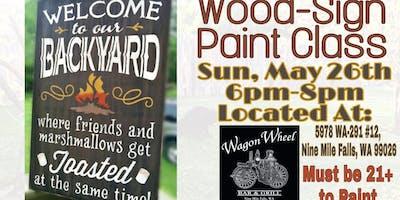 Backyard Wood-Sign Paint Class