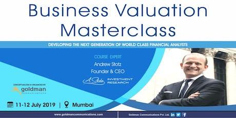 Business Valuation Masterclass 2019 tickets