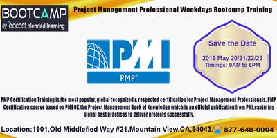 PMP weekdays Bootcamp in Mountain view-May-20,21,22,23-2019