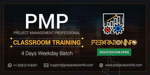 PMP 4 Days Classroom Weekday Training and Bootcamp in Montreal