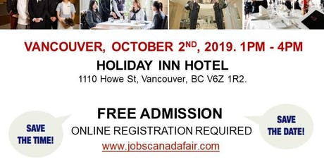 Vancouver Hospitality Job Fair - October 2nd, 2019 tickets
