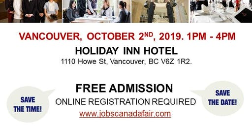 Vancouver Hospitality Job Fair - October 2nd, 2019