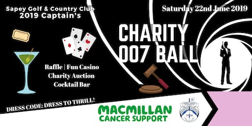 2019 Captains' Charity Ball to Benefit Macmillan Cancer Support
