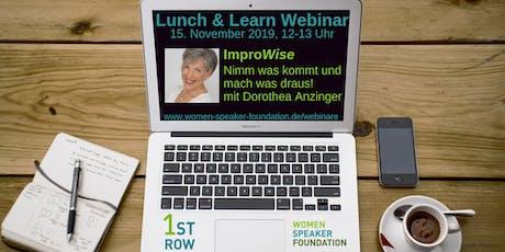 """Live-Webinar """"ImproWise - Nimm was kommt und mach was draus"""" mit Dorothea Anzinger Tickets"""