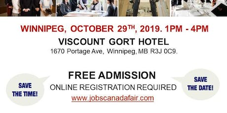 Winnipeg Hospitality Job Fair - October 29th, 2019  tickets