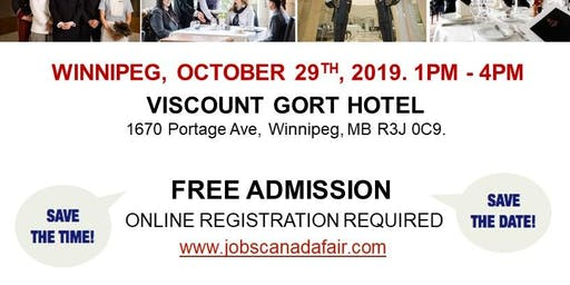 Winnipeg Hospitality Job Fair - October 29th, 2019