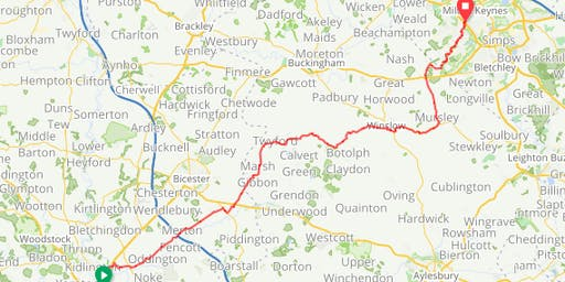 Cycle against Torture 2019 STAGE 5 Oxford to Milton Keynes