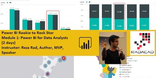 Power BI from Rookie to Rock Star – Module 1: Power BI for Data Analysts (Visualization) – Sydney, Australia 2 days course