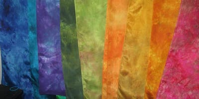 Dyeing Silk Scarves for Adults