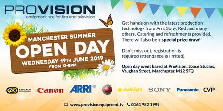 ProVision Manchester Open Day 2019 tickets