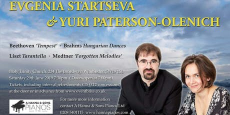 Piano Recital with Evgenia Startseva and Yuri Paterson-Olenich tickets