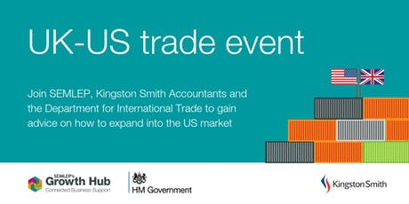 UK-US trade event: Expanding your business overseas tickets
