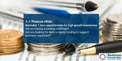 1-1 Finance Clinic - 30th May 2019, Ocean House, Bracknell
