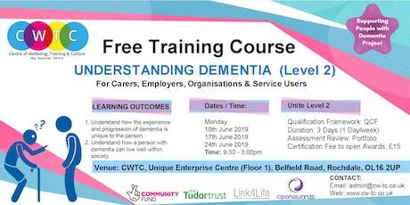 Understanding Dementia (Level 2) tickets