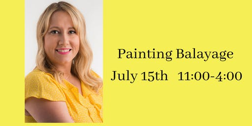 Painting Balayage