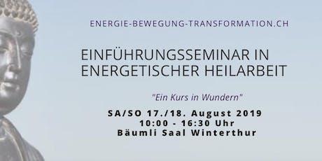 Ausbildungslehrgang in energetischer Heilarbeit Tickets