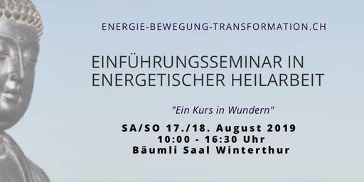 Ausbildungslehrgang in energetischer Heilarbeit