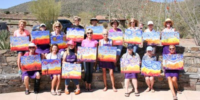 Acrylic Painting Class taught by Vino and Canvas