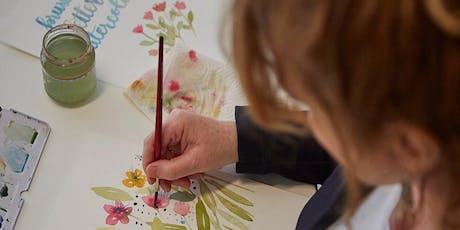 Florales Watercolor Workshop - mit Pinselschrift tickets