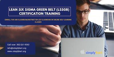 Lean Six Sigma Green Belt (LSSGB) Certification Training in Wilmington, NC