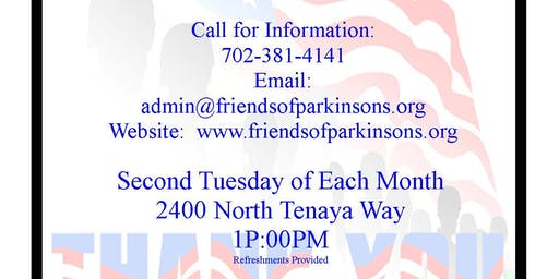 Veterans Monthly Support Group  Parkinson's (V.I.P.)