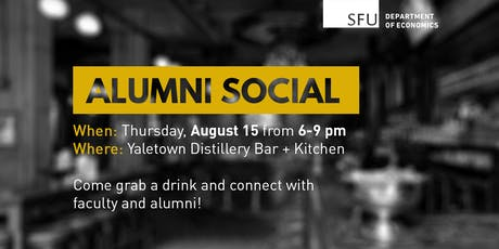 Economics Alumni Summer Social 2019 tickets