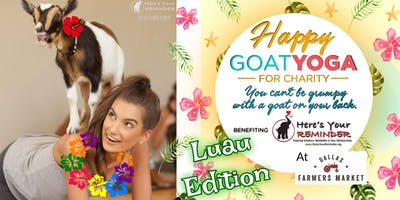Happy Goat Yoga-For Charity: Luau Edition at Dallas Farmers Market
