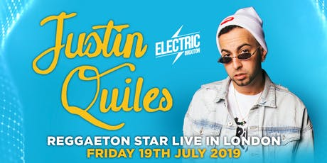 J QUILES REGGAETON STAR IN LONDON - CONCERT + PARTY - Friday 19th July 2019 tickets