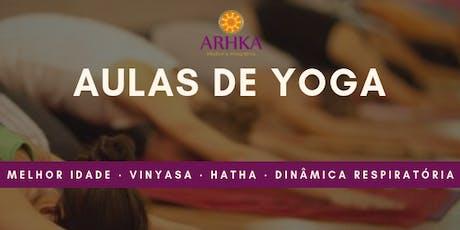 Aulas de Yoga 2019 - agendamento ingressos