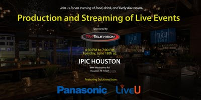 Production and Streaming of Live Events - Seminar at iPic Houston