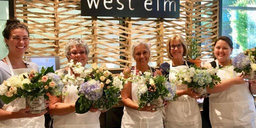 Blooms, Bubbles and Shopping at West Elm Scottsdale Quarter