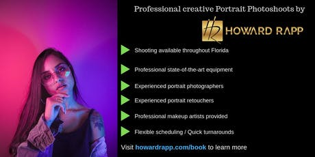Calling College Models - Professional Portrait Photoshoots in Miami tickets