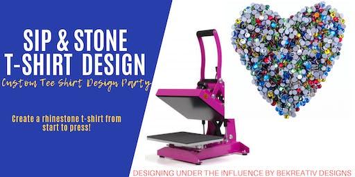 Sip & Stone Rhinestone T-Shirt Design Class