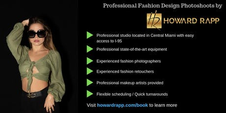 Professional Fashion Design Photoshoots in Miami tickets